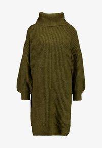Noisy May - Strikket kjole - winter moss - 5