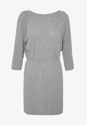 NMHALLEY O-NECK DRESS - Jumper dress - medium grey