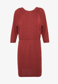 Noisy May - NMHALLEY O-NECK DRESS - Strikket kjole - burnt henna - 4