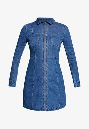 NMLISA ZIP DRESS - Spijkerjurk - medium blue denim