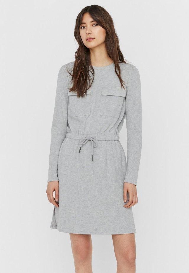 Vestido de punto - light grey melange