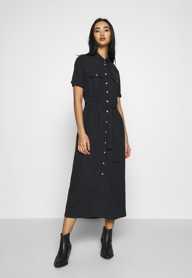 NMCERSEI ENDI BUTTON DRESS - Shirt dress - black