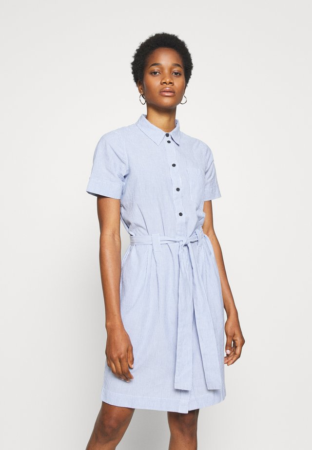 NMHERMINE DRESS - Shirt dress - light blue/snow white