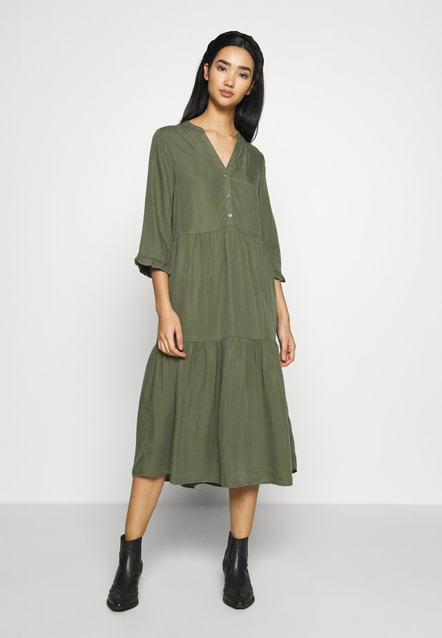 NMENDI LONG DRESS - Shirt dress - olive night
