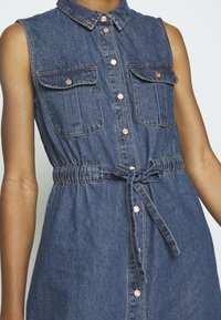 Noisy May - NMEZGI LONG DRESS - Day dress - medium blue denim - 4