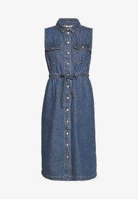 Noisy May - NMEZGI LONG DRESS - Day dress - medium blue denim - 3