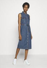 Noisy May - NMEZGI LONG DRESS - Day dress - medium blue denim - 0