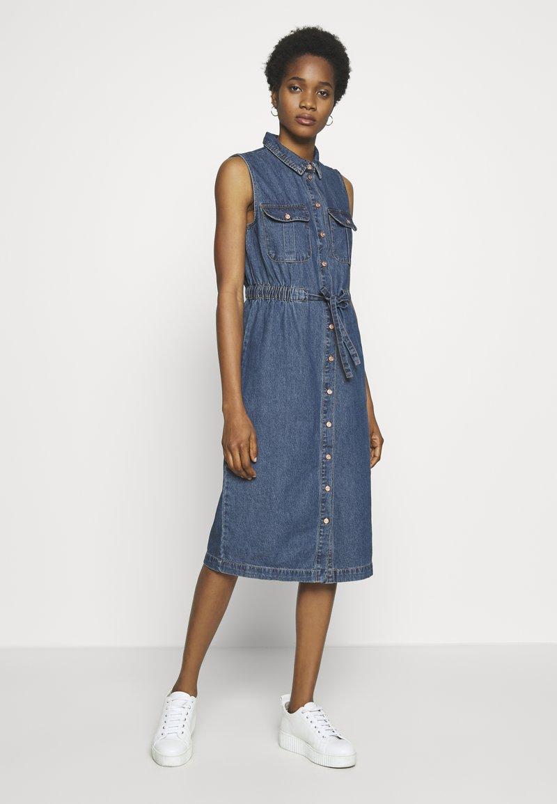 Noisy May - NMEZGI LONG DRESS - Day dress - medium blue denim