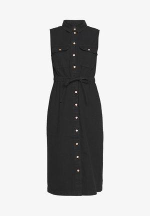 NMEZGI LONG DRESS - Shirt dress - black