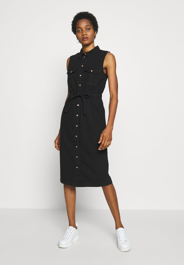 NMEZGI LONG DRESS - Shirt dress - black