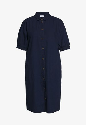 NMJENNY  DRESS - Skjortekjole - dark blue denim