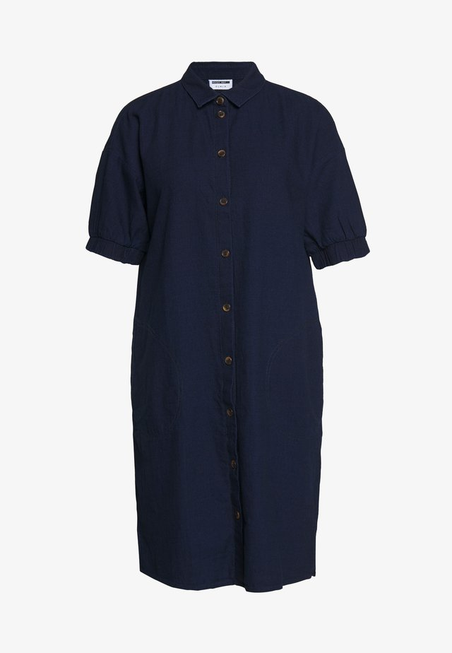 NMJENNY  DRESS - Shirt dress - dark blue denim