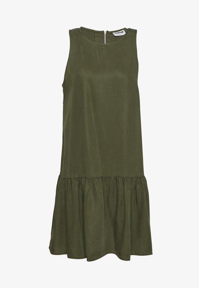 NMEMILIA ENDI PEPLUM DRESS - Vestido informal - olive night