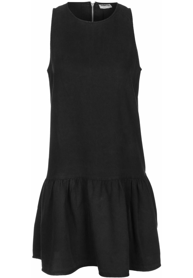 NMEMILIA ENDI PEPLUM DRESS - Korte jurk - black
