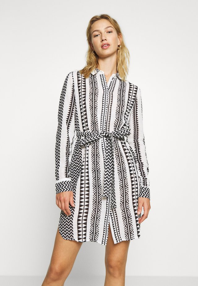 NMAZRA - Shirt dress - black/white