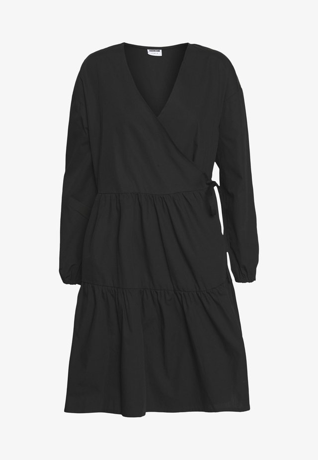 NMPINAR WRAP POPLIN DRESS - Vestido informal - black