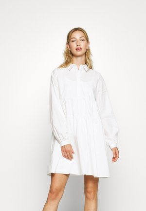 NMJULIE SHIRT POPLIN DRESS - Vestido camisero - bright white