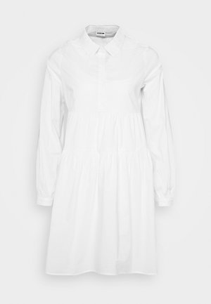 NMJULIE SHIRT POPLIN DRESS - Košilové šaty - bright white