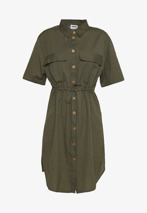 NMHIRAM SHIRT DRESS - Blousejurk - khaki
