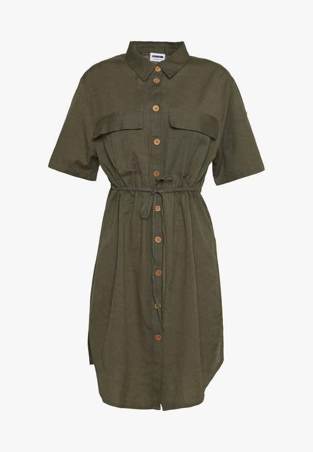 NMHIRAM SHIRT DRESS - Shirt dress - khaki