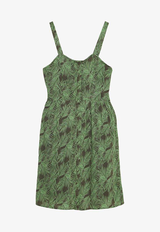 NMFLORA STRAP DRESS - Korte jurk - kalamata/green ash