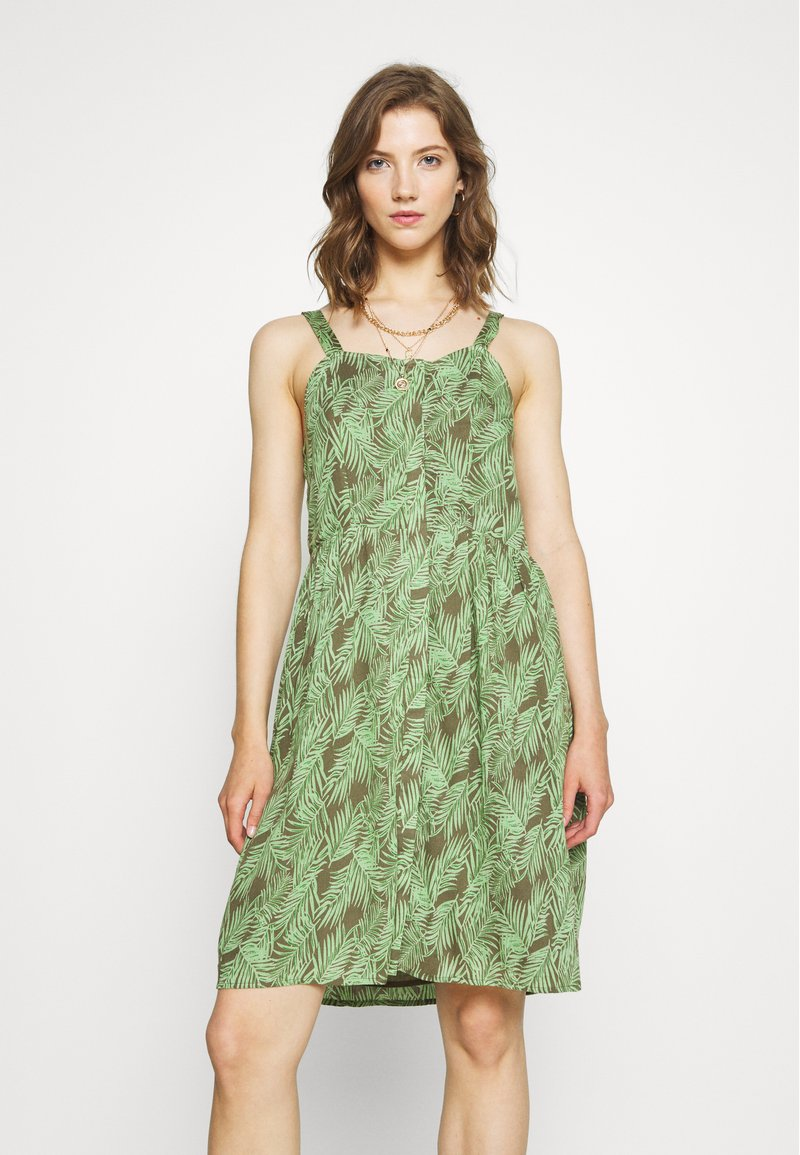 Noisy May - NMFLORA STRAP DRESS - Denní šaty - kalamata/green ash