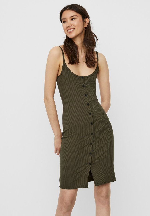 Shirt dress - olive night