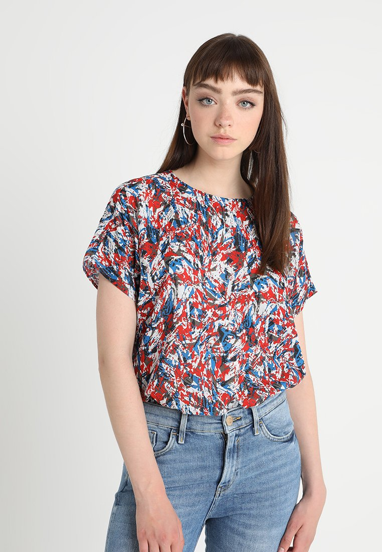 Noisy May - NMBLAZE  - Blouse - directoire blue/molten lava without