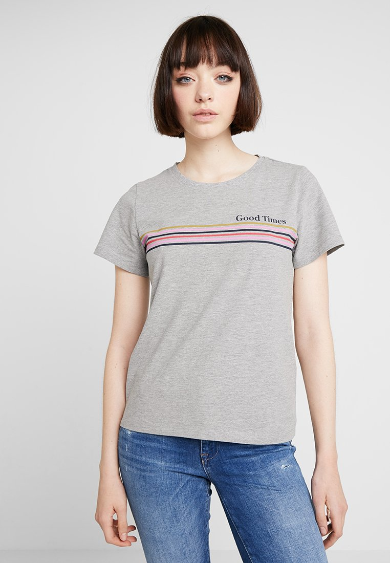 Noisy May - NMNATE GOOD TIMES - T-shirt imprimé - light grey melange