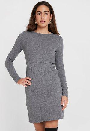 NMHELSE BACK DRESS - Jersey dress - medium grey melange