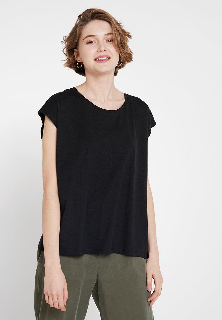 Noisy May - NMMATHILDE STRAIGHT HEM LOOSE - T-shirts - black