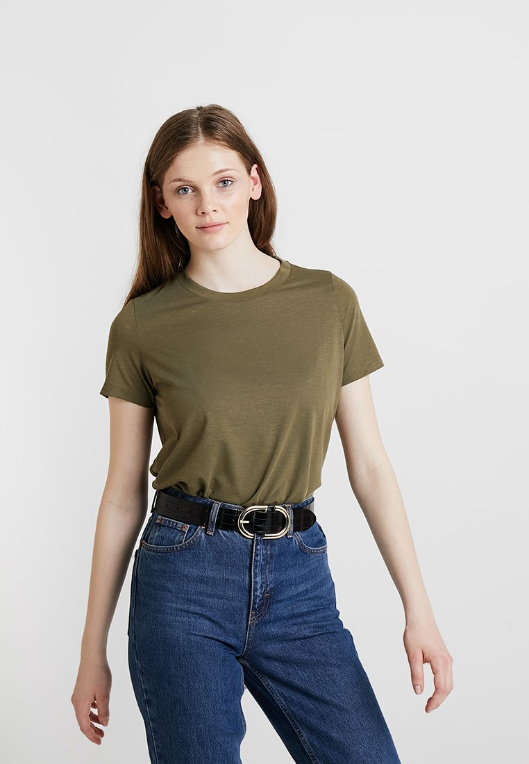 Noisy May - NMRIBA - Basic T-shirt - burnt olive