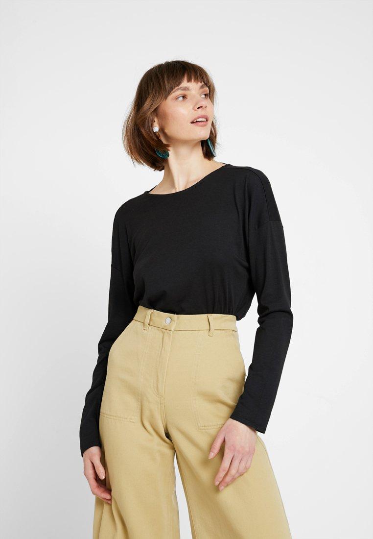 Noisy May - NMBETILDE DEEP BACK - Long sleeved top - black