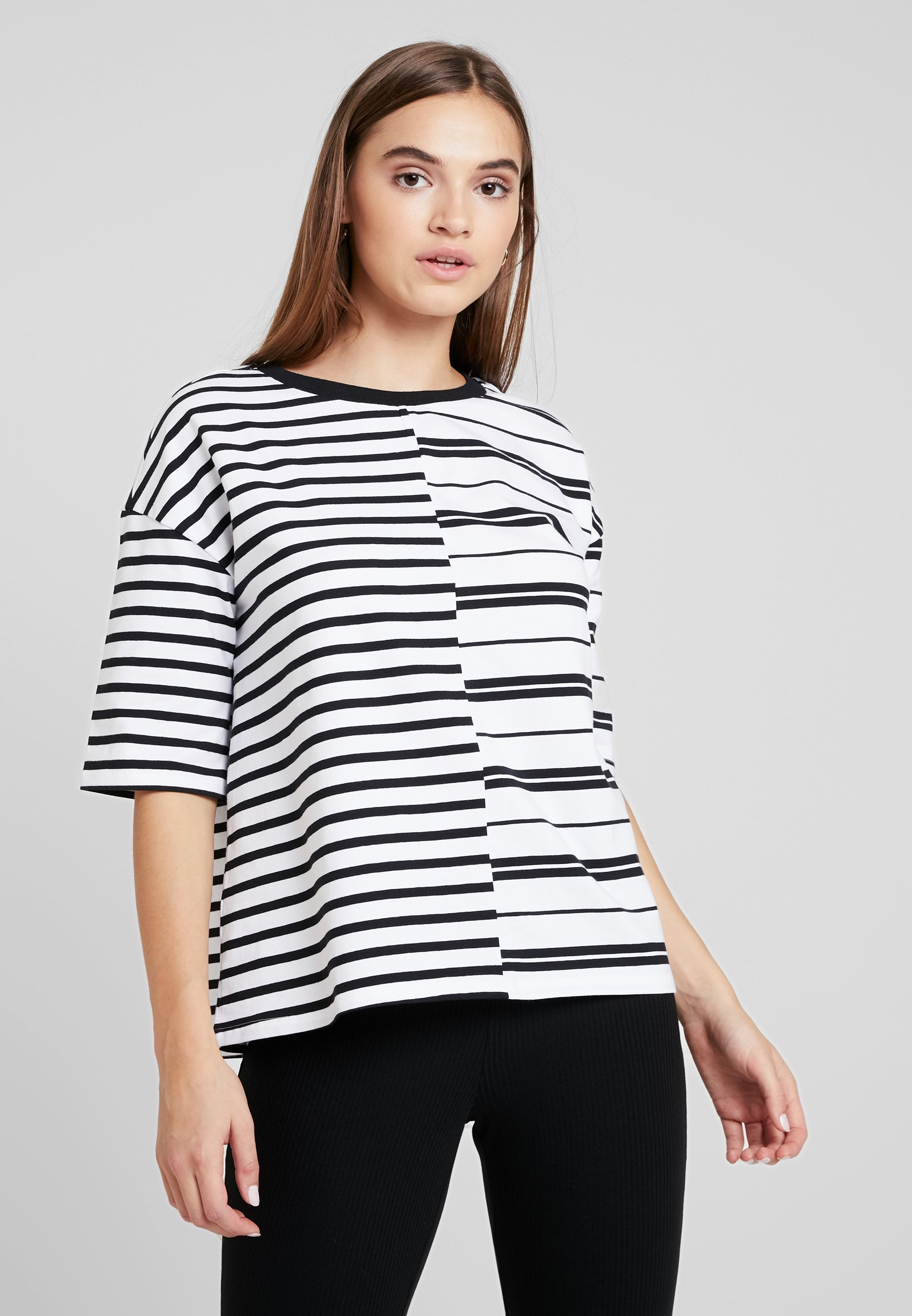 Imprimé NmleoT May White black shirt Noisy Bright BdCoWerx