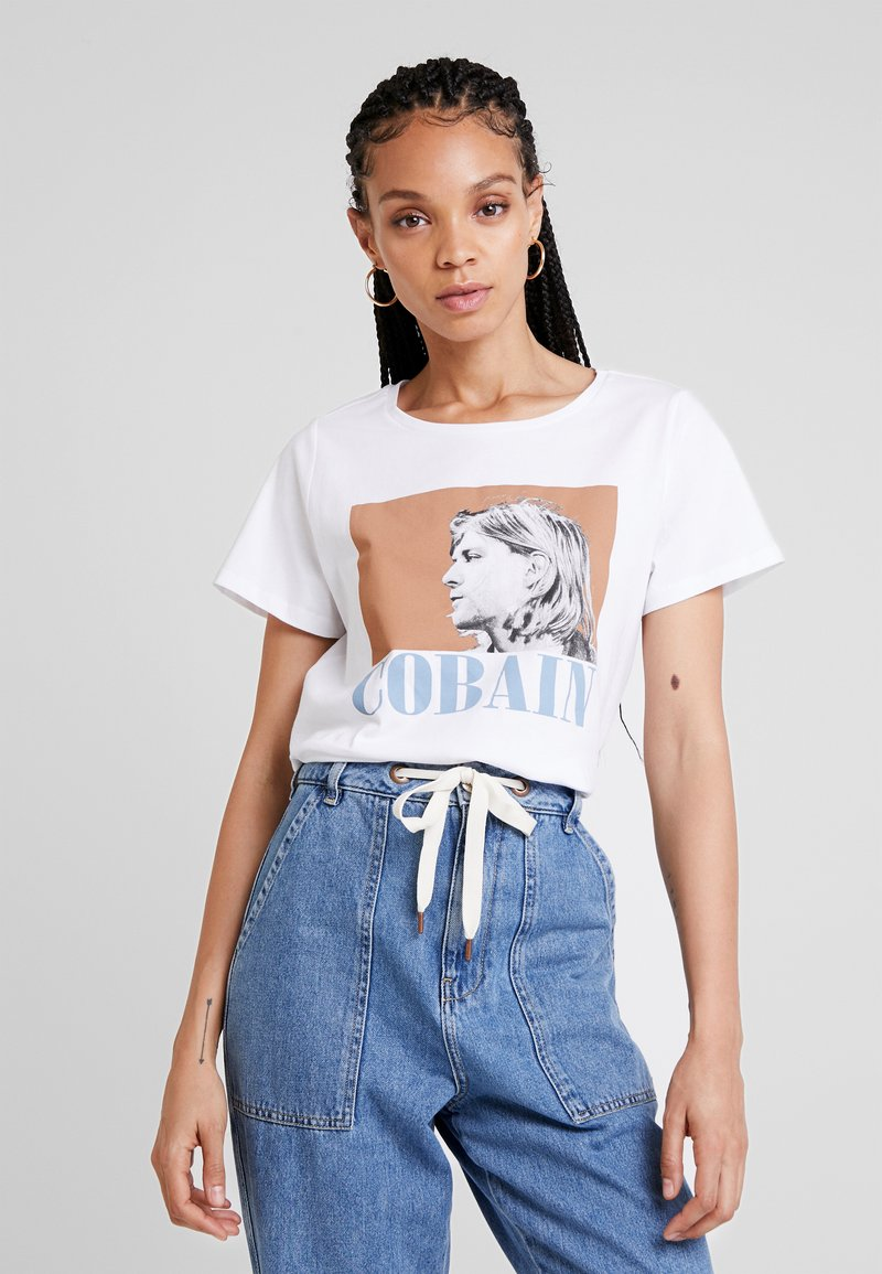 Noisy May - NMNATE COBAIN LICENCE - T-Shirt print - bright white
