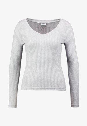 Maglietta a manica lunga - light grey melange