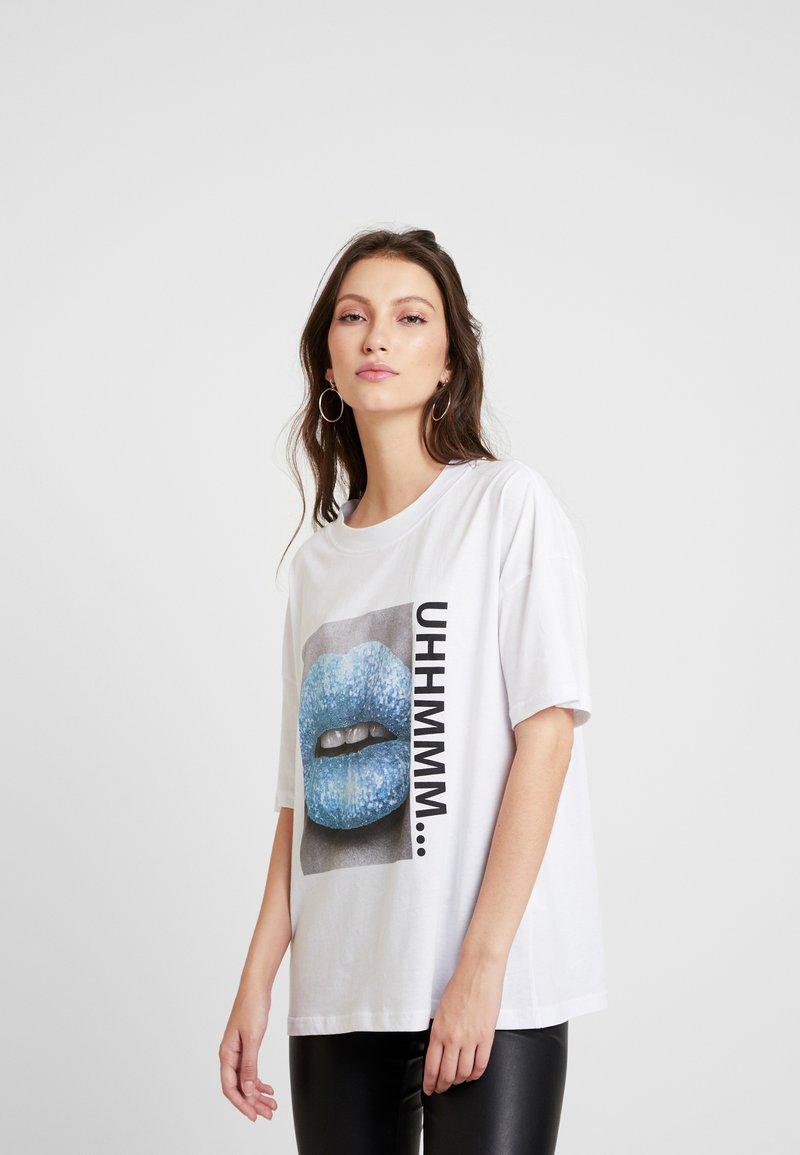Noisy May - T-shirts med print - bright white