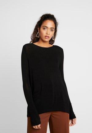 NMMIKA LOOSE - Long sleeved top - black