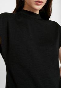 Noisy May - NMDENNY HIGH NECK - Camiseta básica - black - 5