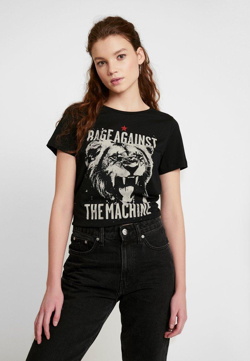 Noisy May - NMNATE MACHINE - T-shirt z nadrukiem - black