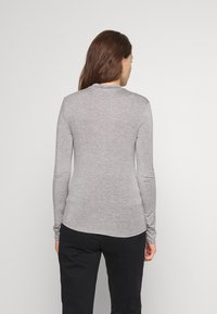 Noisy May - HIGHNECK TOP - Long sleeved top - light grey melange - 2