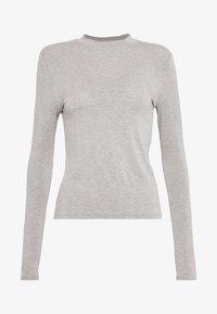 Noisy May - HIGHNECK TOP - Long sleeved top - light grey melange - 3