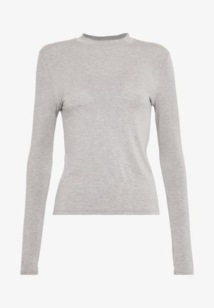 HIGHNECK TOP - Topper langermet - light grey melange