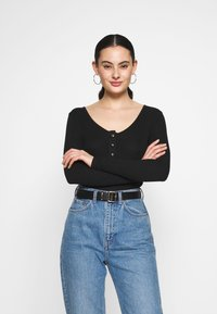 Noisy May - NMHENLEY - Long sleeved top - black - 0