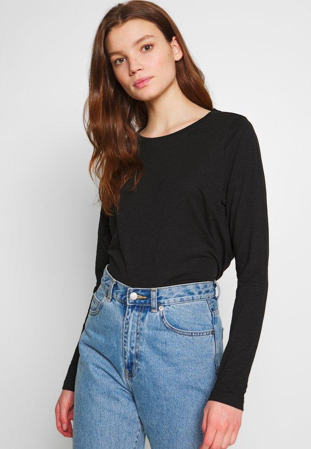 NMMIKA MATHILDE - Long sleeved top - black