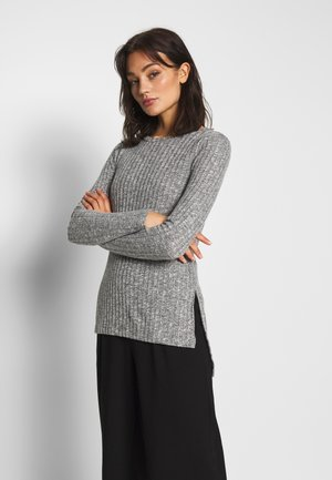 NMSLOAN O NECK  - Strickpullover - light grey melange