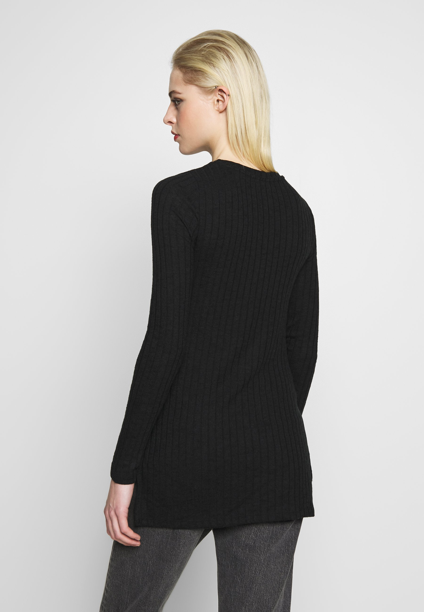 Noisy May NMSLOAN O NECK  - Sweter - black