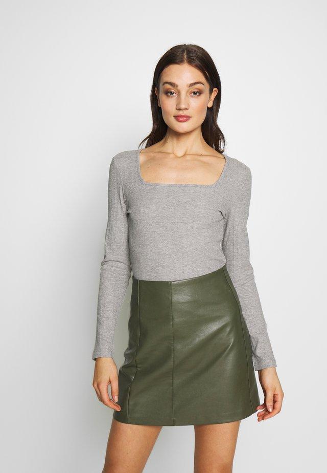NMMONICA  - Långärmad tröja - light grey melange