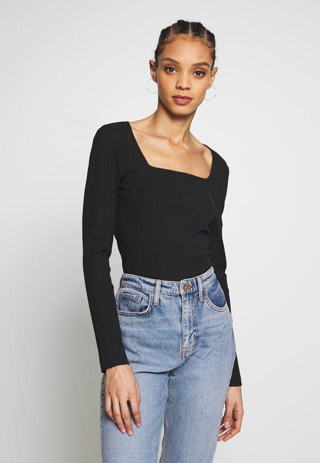 NMMONICA  - Langærmede T-shirts - black