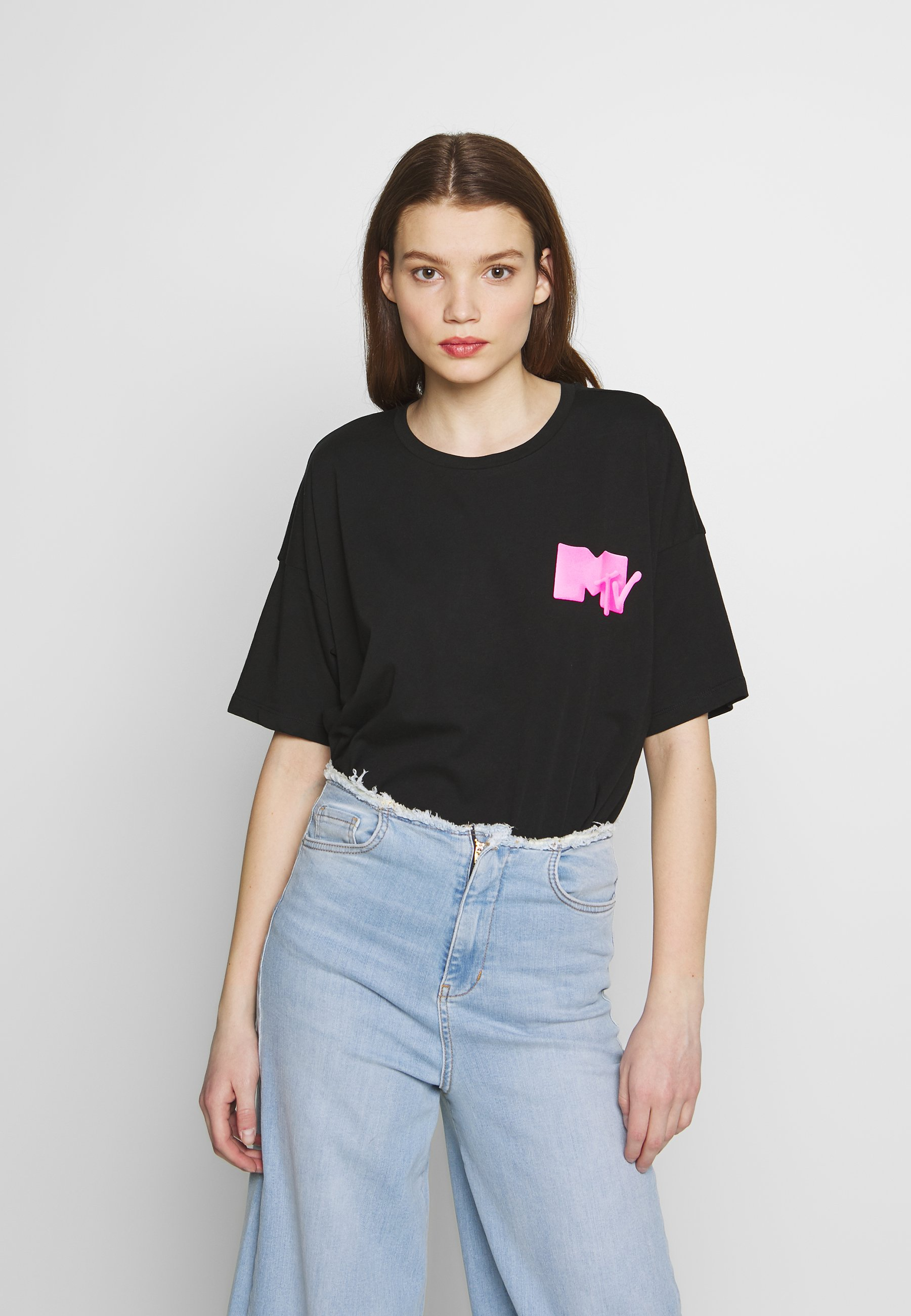 Noisy May T-shirts med print - black